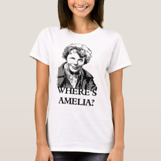 Wo Frauen-Luftfahrt Spleeburgen Amelia Earhart ist T-Shirt