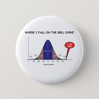 Wo ich auf die Bell-Kurve ich falle, sind hier Runder Button 5,7 Cm