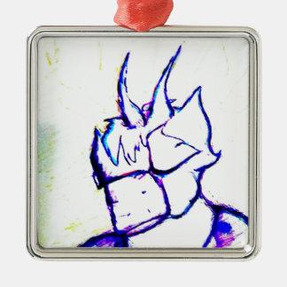 Wo ich Helle bereitstehe Quadratisches Silberfarbenes Ornament