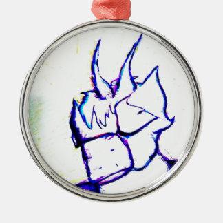 Wo ich Helle bereitstehe Rundes Silberfarbenes Ornament