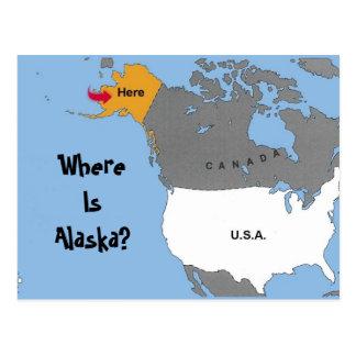 Wo ist Alaska? Postkarte