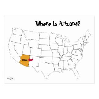 Wo ist Arizona? Postkarte
