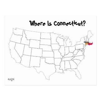 Wo ist Connecticut? Postkarte