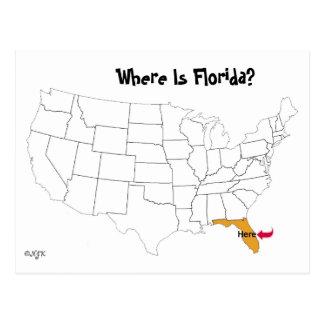 Wo ist Florida? Postkarte