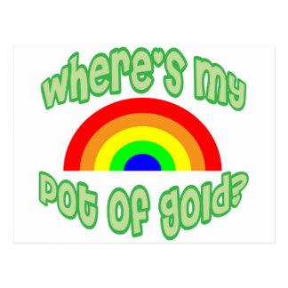 Wo ist mein Goldschatz? Postkarte