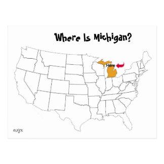 Wo ist Michigan? Postkarte