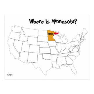 Wo ist Minnesota? Postkarte