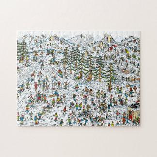 Wo ist, neigt sich Waldo Ski Puzzle