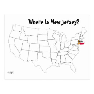 Wo ist New-Jersey? Postkarte