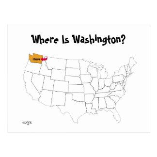 Wo ist Washington? Postkarte