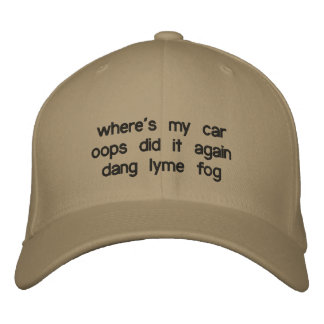 wo ist, wiederholte mein Auto oops es dang lyme Bestickte Kappe