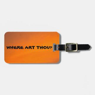WO KUNST-TAUSEND? Lustiger abstrakter orange Gepäckanhänger