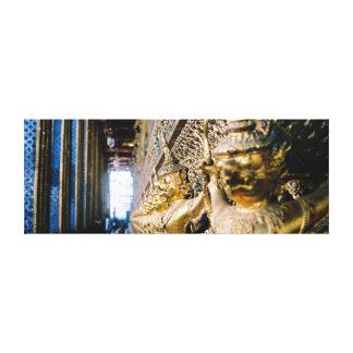 Wo mein Buddha ist! Postkarte Leinwand Druck