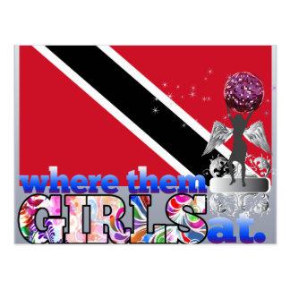 Wo sie an Mädchen von Trinidad? Postkarte