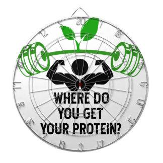 Wo Sie Ihr Protein erhalten Dartscheibe