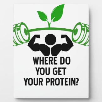 Wo Sie Ihr Protein erhalten Fotoplatte