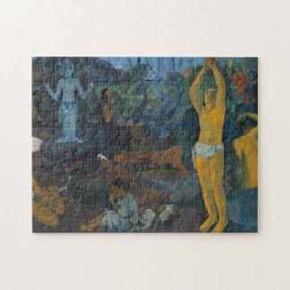"""""""Wo tun Sie, kommen wir von?"""" - Paul Gauguin Puzzle"""