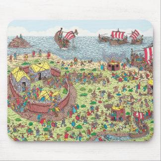 Wo Waldo | auf Ausflug mit den Wikingern ist Mousepad