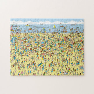 Wo Waldo auf dem Strand ist Puzzle