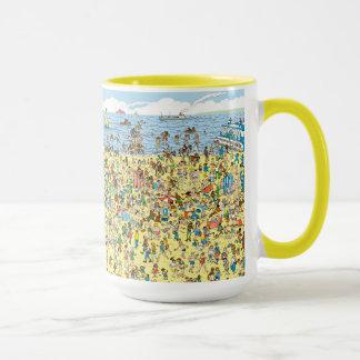 Wo Waldo auf dem Strand ist Tasse