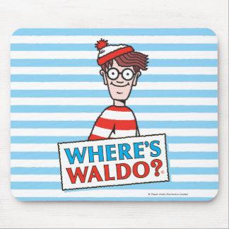 Wo Waldo Logo ist Mousepad