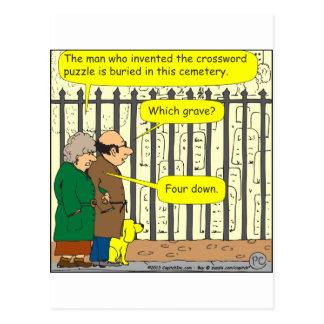 Wo wird der Kreuzworträtselerfinder begraben Postkarte