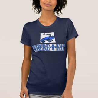 Wo Yat Fleur blaue Buchstabe-Fliesen, Panzerkrebse T-Shirt