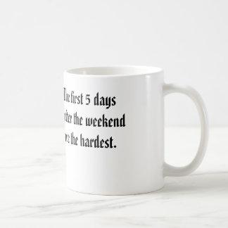 Wochenende nachher kaffeetasse