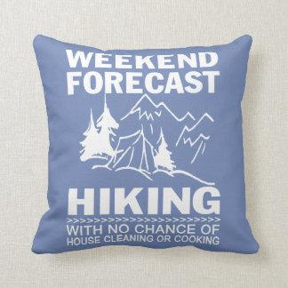 Wochenende prognostiziertes Wandern Kissen