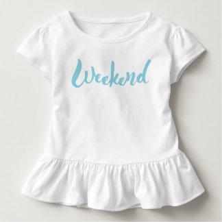 Wochenenden-Handbriefgestaltung Kleinkind T-shirt