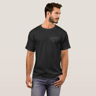 Wochenmitte-Blues-schwarzer Hundegrau auf T-Shirt