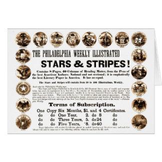 Wöchentliche 1918 Stern-u. Streifen-Zeitung Mitteilungskarte