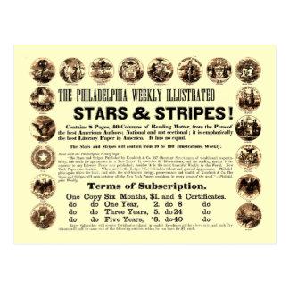 Wöchentliche 1918 Stern-u. Streifen-Zeitung Postkarten