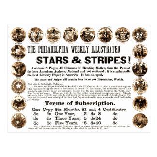 Wöchentliche 1918 Stern-u. Streifen-Zeitung Postkarte