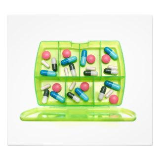 Wöchentliche Medizin Fotodruck