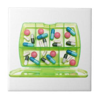 Wöchentliche Medizin Keramikfliese