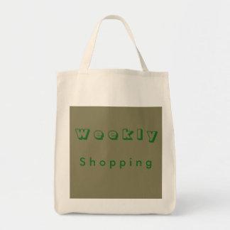 Wöchentliches Einkaufen Einkaufstasche