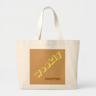 Wöchentliches Einkaufen Jumbo Stoffbeutel