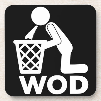 WOD FitnessWorkout - kotzen Sie Getränkeuntersetzer