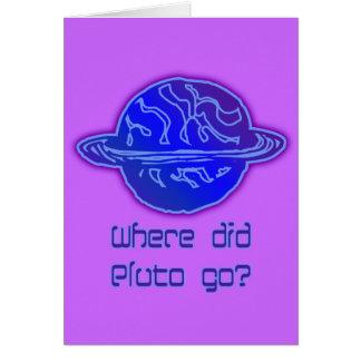Wohin ging Pluto? Grußkarte