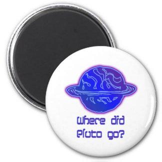 Wohin ging Pluto? Runder Magnet 5,7 Cm