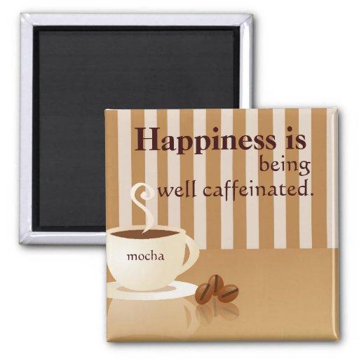 Wohler Caffeinated Magnet für Kaffee-Liebhaber Kühlschrankmagnete