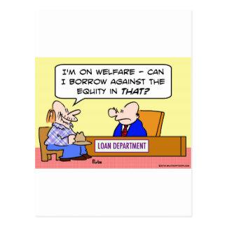 Wohlfahrtsbürgschaft gegen Eigenkapital Postkarte