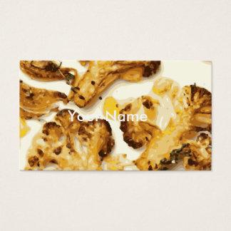 Wohlschmeckender Brokkoli und Blumenkohl Saute Visitenkarte