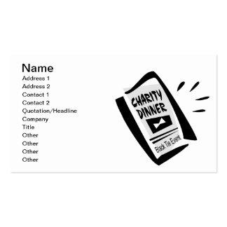 Wohltätigkeit-Abendessen Visitenkarten
