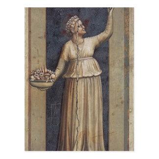 Wohltätigkeit durch Giotto Postkarte