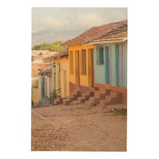 Wohnhäuser, Trinidad, Kuba Holzleinwand