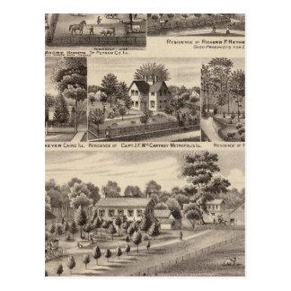 Wohnsitze und Bauernhöfe in Edgar, Hardin, Massac Postkarte