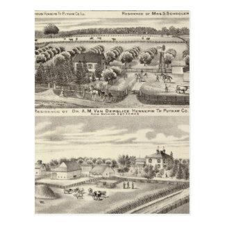 Wohnsitze und Bauernhofwohnsitze in Putnam Co Postkarte