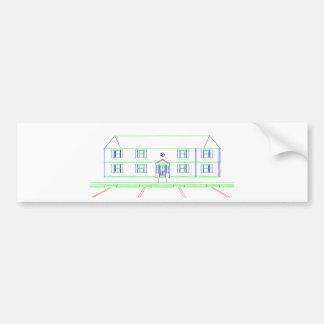 Wohnungs-Gebäude/Haus: Markierungs-Zeichnen Auto Aufkleber